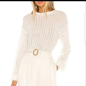 Joie Hadar Wool Blend Sweater ivory high neck XS